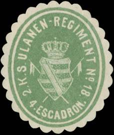 2. K.S. Ulanen-Regiment No. 18 - 4. Escadron
