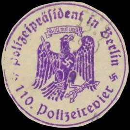 110. Polizeirevier - Polizeipräsident in Berlin