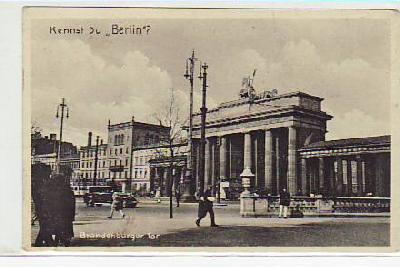 Berlin Mitte Brandenburger Tor ca 1930