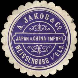 A. Jakob & Co. Japan- und China Import - Weissenburg im Elsass