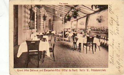 Berlin Mitte Restaurant Grand Hotel Bellevue 1905