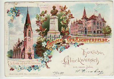 Berlin Lichterfelde Litho 1897