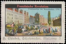 1791 Proklamation der Konstitution