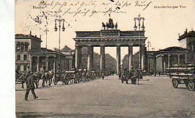 Berlin Mitte Brandenburger Tor 1914
