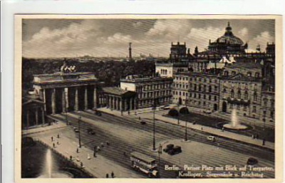 Berlin Mitte Brandenburger Tor ca 1935