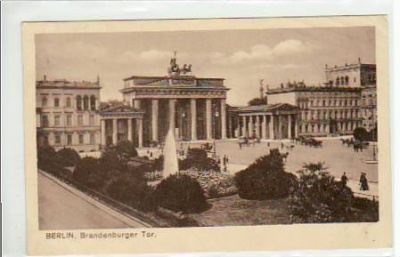 Berlin Mitte Brandenburger Tor ca 1925