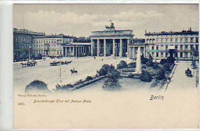 Berlin Mitte Brandenburger Tor ca 1900