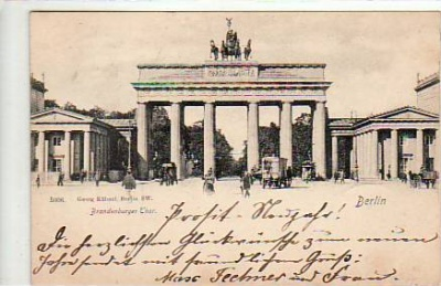 Berlin Mitte Brandenburger Tor 1901