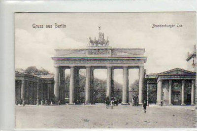 Berlin Mitte Brandenburger Tor ca 1910
