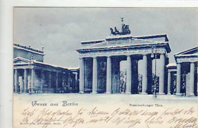 Berlin Mitte Brandenburger Tor 1899