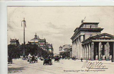Berlin Mitte Brandenburger Tor 1908